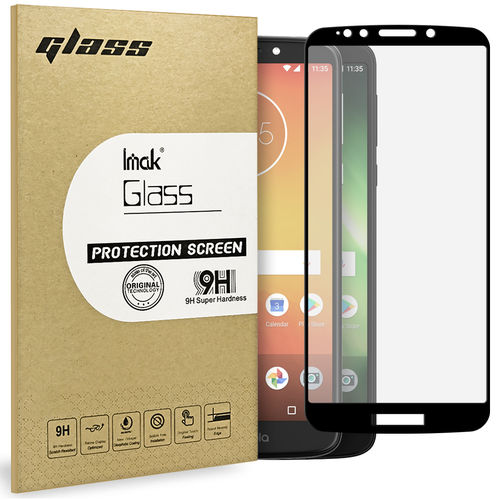 Full Tempered Glass Screen Protector - Motorola Moto E5 / G6 Play - Black